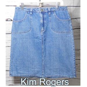 Kim Rogers Denim Skirt Size: 12